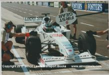 BAR HONDA 002. Darren Manning, pitting during Silverstone Test 2000. Photo (B)
